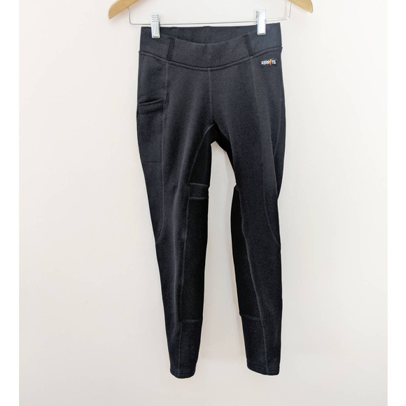 Kerrits Black Fleece-Lined Equestrian Pants Small